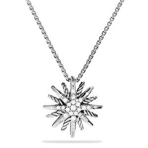 NEW David Yurman Small Silver Starburst with Chain